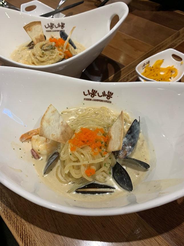 Nice korean style pasta