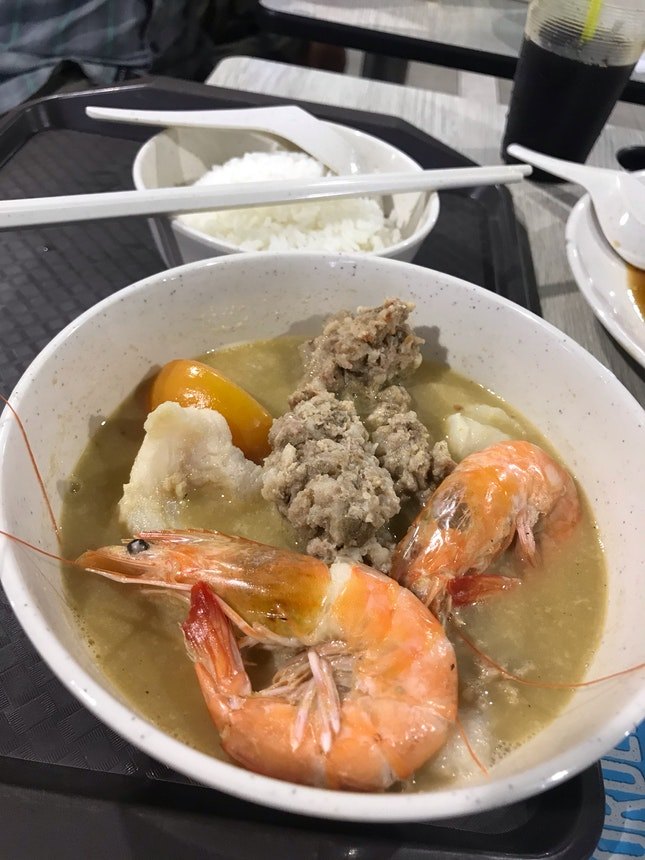 Seafood soup ($8.5)