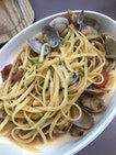 Little Neck Clams and Bacon Pasta ($14.9)