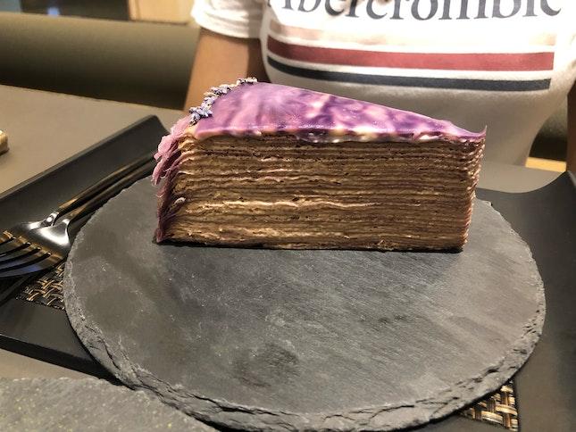 Lavander Earl Grey Millie Crepe Cake [$9]