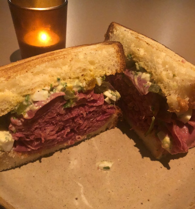 Beef Tongue And Gribiche Sandwich ($26++)