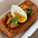 Curry Chicken Danish With Egg & Spiced Breadcrumbs $9