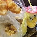 豆漿油條+蘿蔔糕 f0r breakfast!