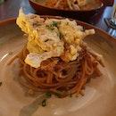 Chili crab pasta.