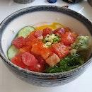 Chirashi with Onsen egg!