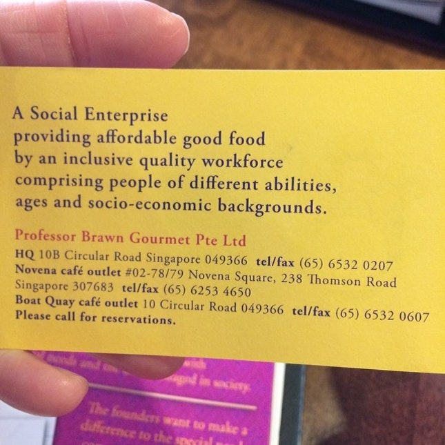 Support #socialenterprise #businesswithacause #cbd #singapore #boatquay #novenasquare #restaurant #cafe