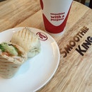 #latergram fr #lunch earlier today - grilled wrap w spicy chicken breast - don't quite like it, prefer garlic aioli..