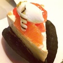 Orange rare cheese cake #dinner