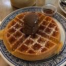 Waffle With Chocolate Truffle Ice Cream