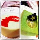 Tea time at Agnès b. Cafe. Dinosaur Rouge and Jasmine cakes. Yummylicious!! 😋👍🍰🍵☕🍴