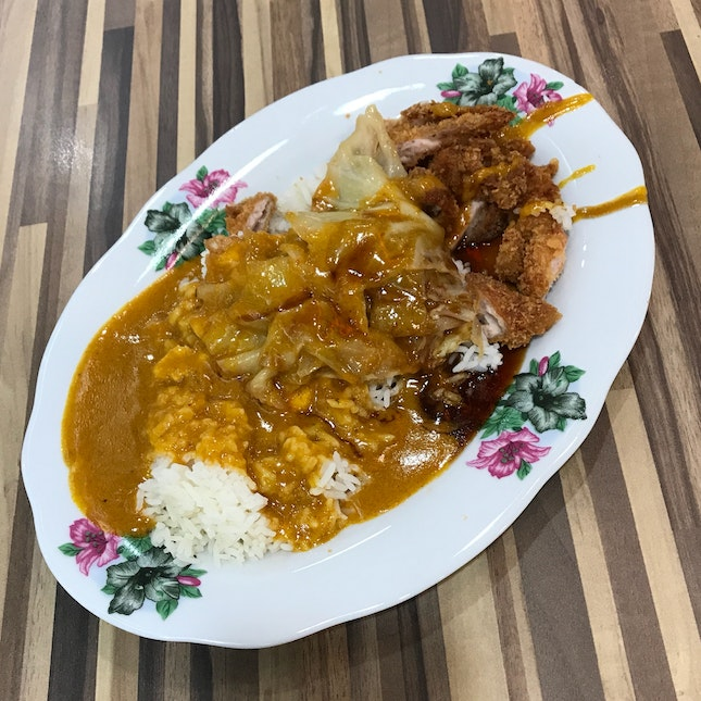 Chicken Cutlet Set ($4.30) from Hainanese Curry Rice Stall