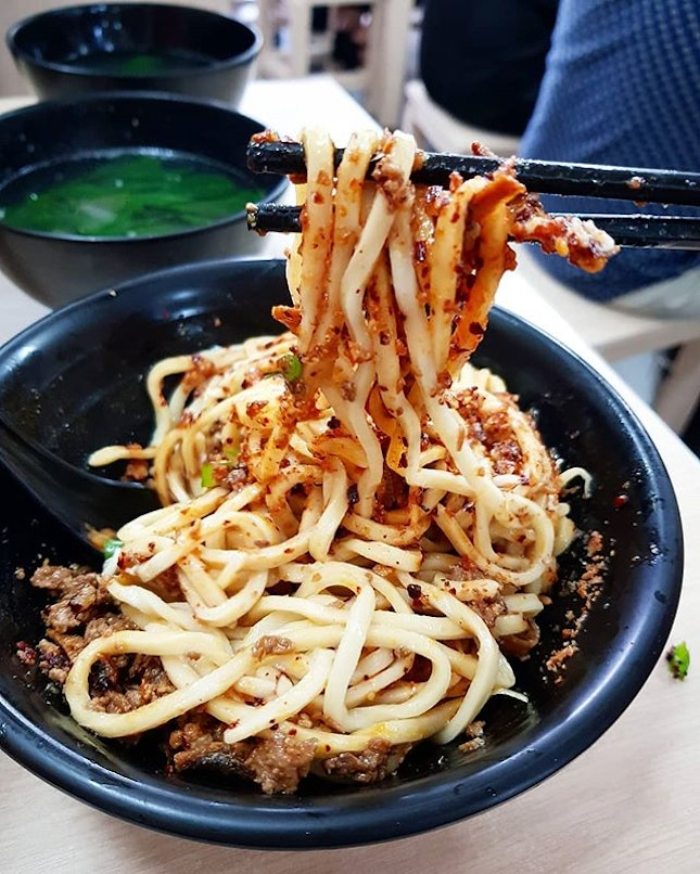 The #chilli pan mee at China Square was so #spicy it made my mouth hurt and my hands shake.