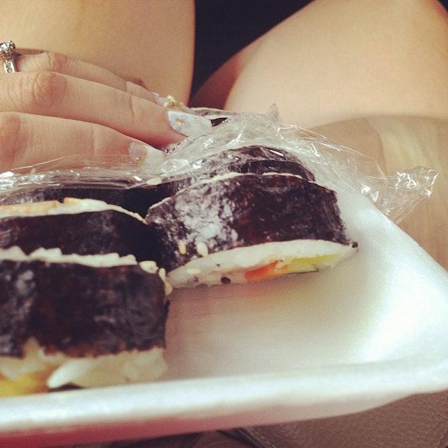 The intense crave/craze continues #foodporn #kimbap #burpple #cravings #korean