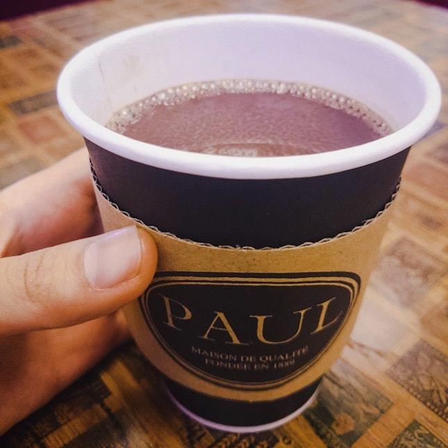 Hot Chocolate ($7) at Paul.
