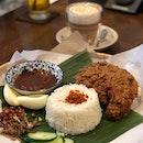 Nasi Lemak Fried Chicken #nasilemak #friedchicken #malaysianfood #malaysiancafes #food #foodporn #burpple #zomato