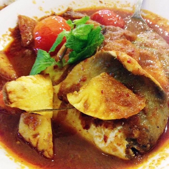 Assam Promfret for dinner last night at Straits Chinese Nonya Restaurant.