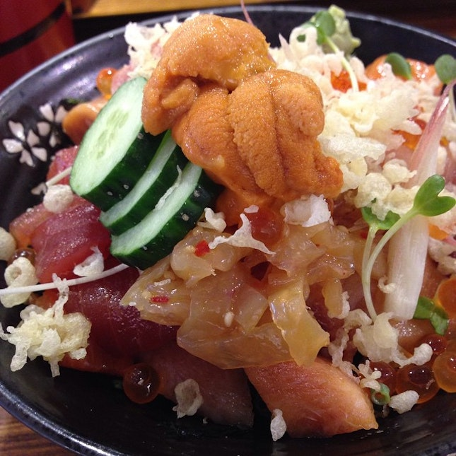The Chirashi Don at #KojiSushiBar is to die for.
