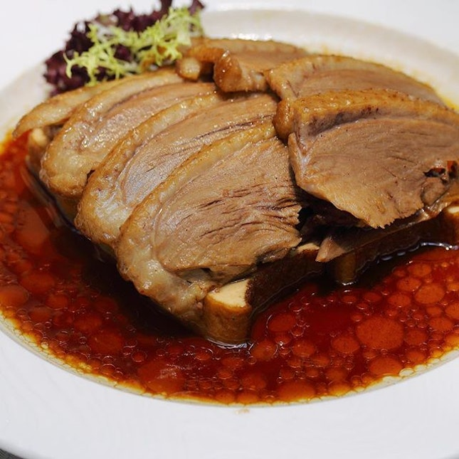 [Paradise Teochew Restaurant] - A bite of the Braised Sliced Duck ($18 per portion, $32 half duck, $60 whole duck), I could tell the different in the braising sauce which has a robust depth to it, comprising over 10 different ingredients.