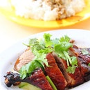 [Xiang Ji] - A hidden gem in Bukit batok selling a delicious plate of roasted duck rice.