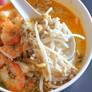 [The Original Katong Laksa] - A bowl of laksa is still the perfect brekkie for the rainy morning.