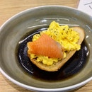 [Fifty50] - Scrambled Eggs On Sourdough Toast ($6.50) with a Smoked Salmon (+$2).
