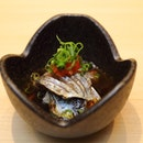 [Sushi Chiharu] - The Sardine are paired with radish and comes in a ponzu sauce.