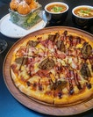 [Club Meatballs] - Never thought of using meatball as pizza toppings but Club Meatball Pizza ($22) did it seamlessly.