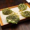 [Maggie Joan's Dining & Bar] - Light and crispy is the Shiso Tempura ($3 each).