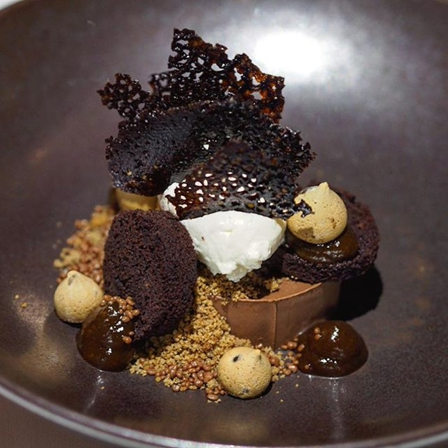 [Salt Grill & Sky Bar] - Textures of Chocolate which comes with salted coffee and mascarphone.