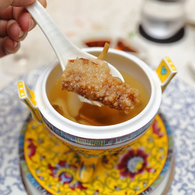 [Man Fu Yuan] - A comforting and yet nourishing soup is the Double-boiled Chicken Consomme.