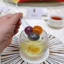 [Golden Peony] - Osmanthus Broth with Rainbow Crystal Tang Yuan.