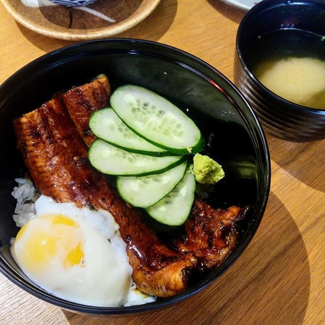 [Minka] - River Eel Rice Bowl ($24) with an Onsen Egg ($2.50).