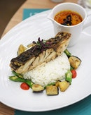 [The Marmalade Pantry] - The Curry Barramundi ($28) is quite mild in term of spiciness.