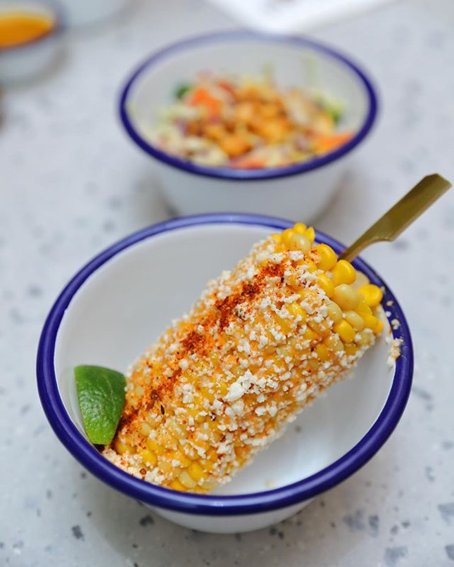 [Chico Loco] - Not to be missed it their mouthwatering Street Corn ($6), glazed with chipotle mayo, cheese and lime.