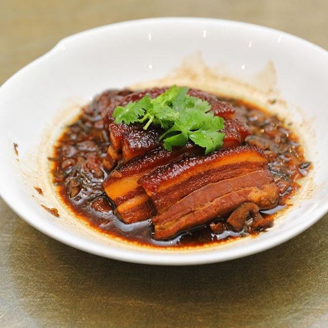"""[Imperial Treasure Nan Bei Restaurant] - The Stewed Pork Belly with Preserved """"Mei Cai"""" Vegetables ($24 Small) is one of my favourite dishes in the new menu."""