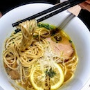 [麺 House Yamamoto] - Porcini Shoyu Ramen ($14.80) uses lemon slices as well, which brightens the broth with a soft citrusy note.