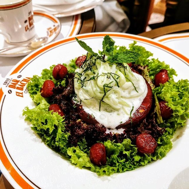 [Bacha Coffee] - Cucumber Tzatziki ($20) comes with caramelised watermelon and shredded cucumbers.