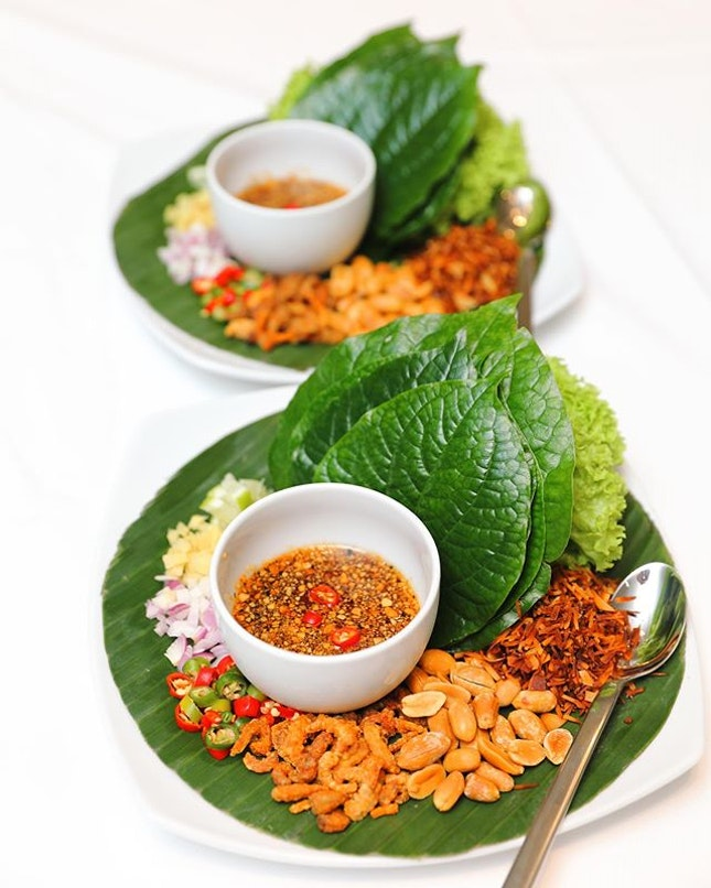 [Thanying] - Miang Khum, a light appetiser that is eaten like a wrap.