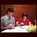 Us concentrating on the cake #me #life #random #food #birthday #us