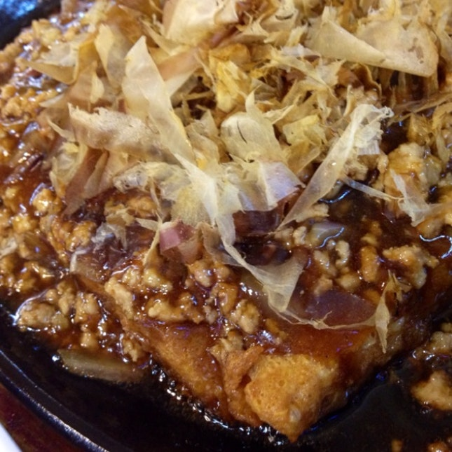 Minced Meat Toufu Jap Sauce $12