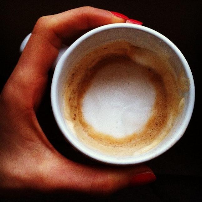 Organic milk (omega fatties!) latte.