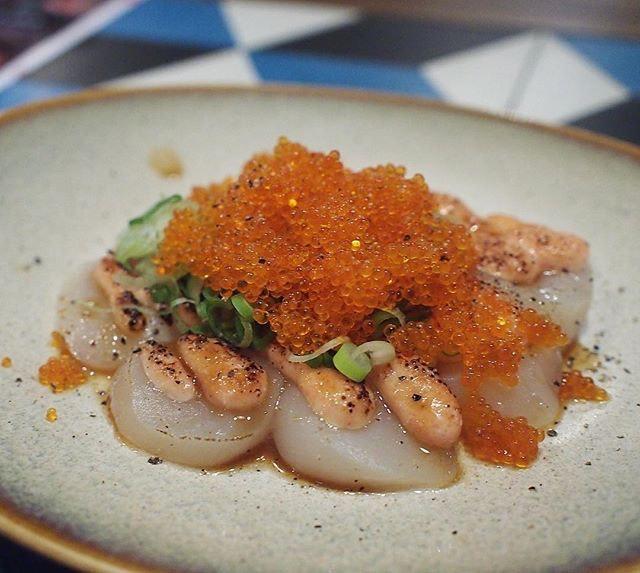 Mentai Hokkaido Scallop ($13.80/9pcs, limited portion).