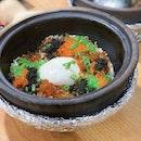 Onsen Egg With Ikura & Tobiko ($11)