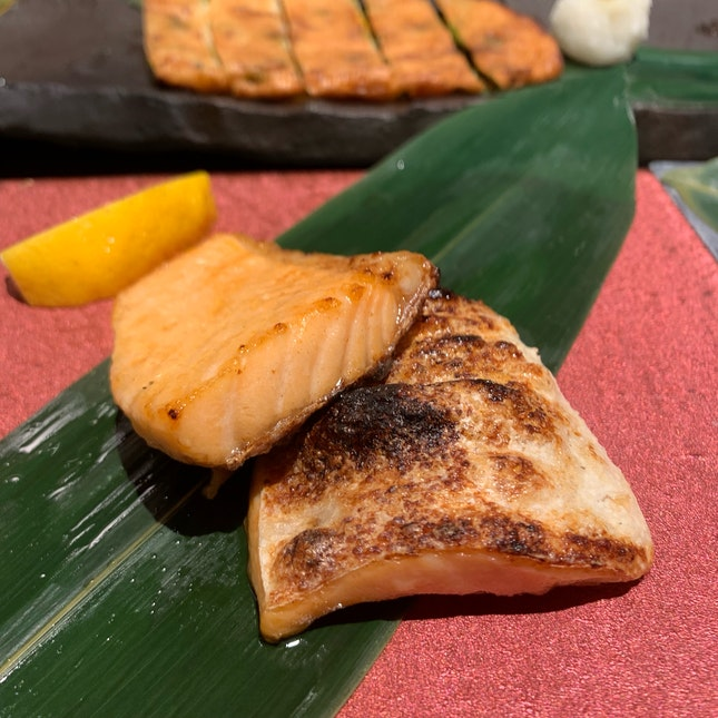 Charcoal Grilled Salmon Belly ($16.90)