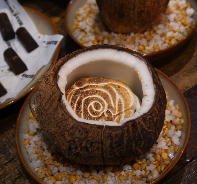 Burnt Coconut & Jackfruit Pudding/ Coconut Custard Chocolate