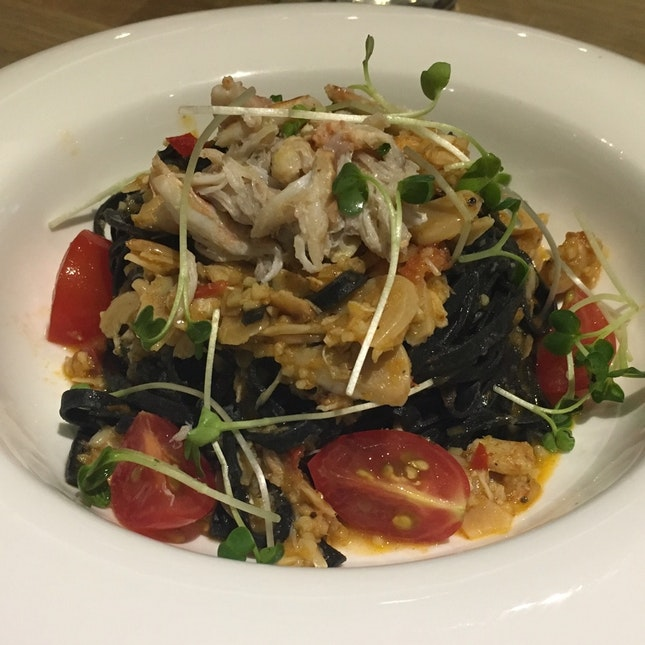 Crabmeat Squid Ink Pasta Tagliolini