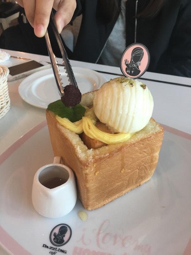 Dazzling Classic Honey Toast