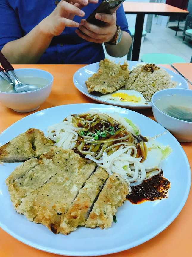 Supreme Pork Chop Noodles ($4.30)