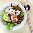 Childhood prawn noodle.