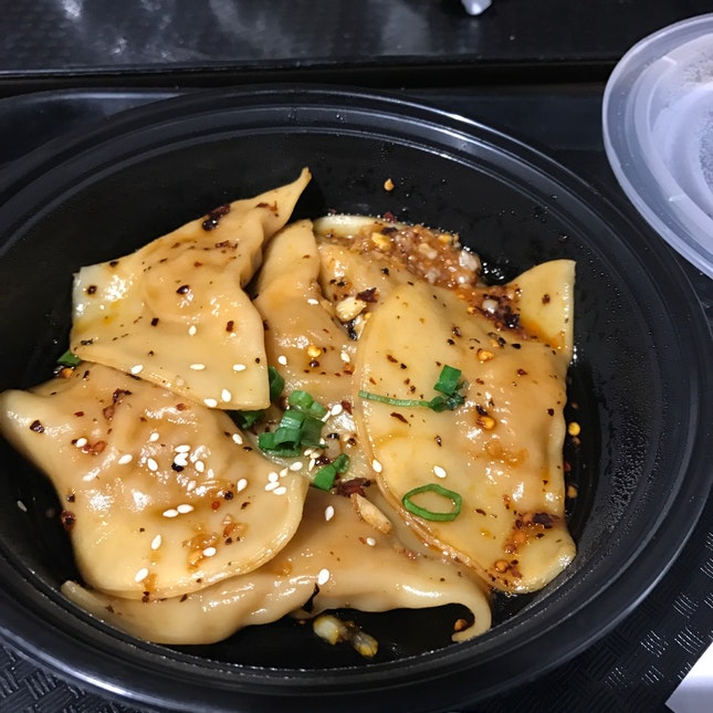 Fusion Chili Oil Dumplings